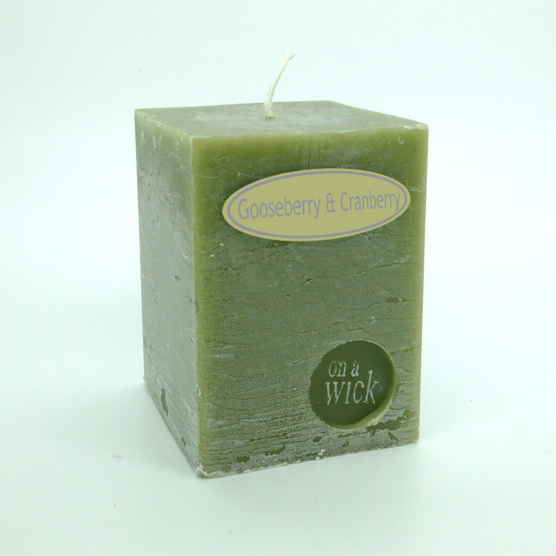 Gooseberry and Cranberry Square Candles