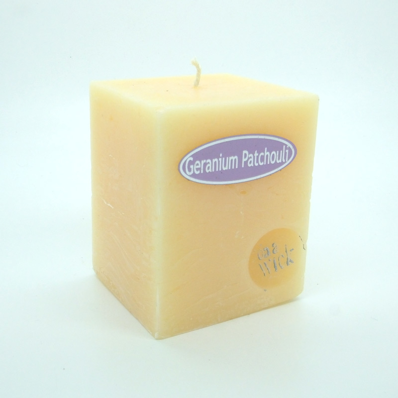Geranium Patchouli Square Candles