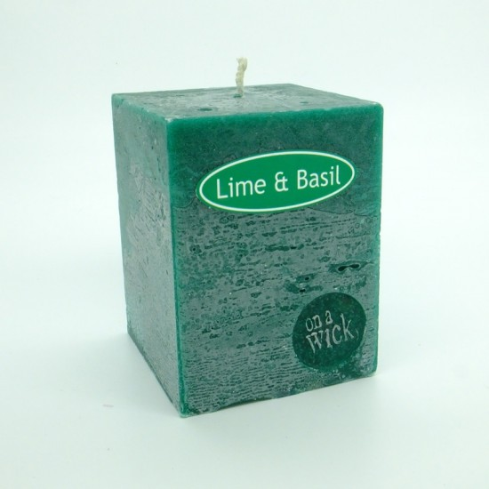 Lime and Basil Square Candles