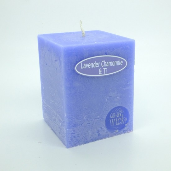 Lavender Chamomile and Ti Tree Square Candles