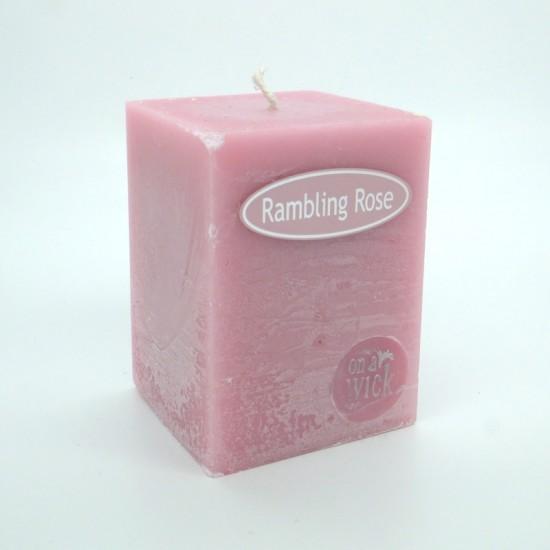 Rambling Rose Square Candles