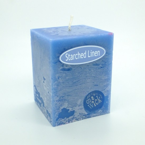 Starched Linen Square Candles