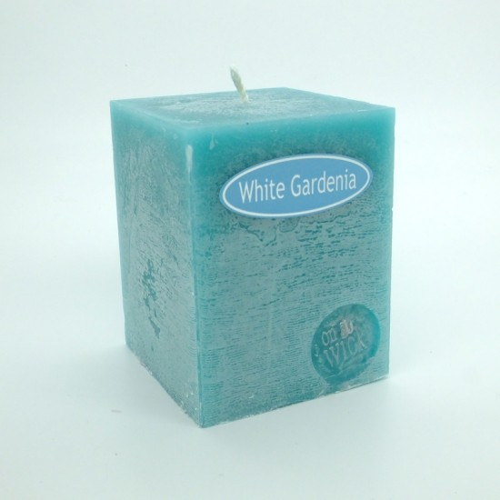 White Gardenia Square Candles