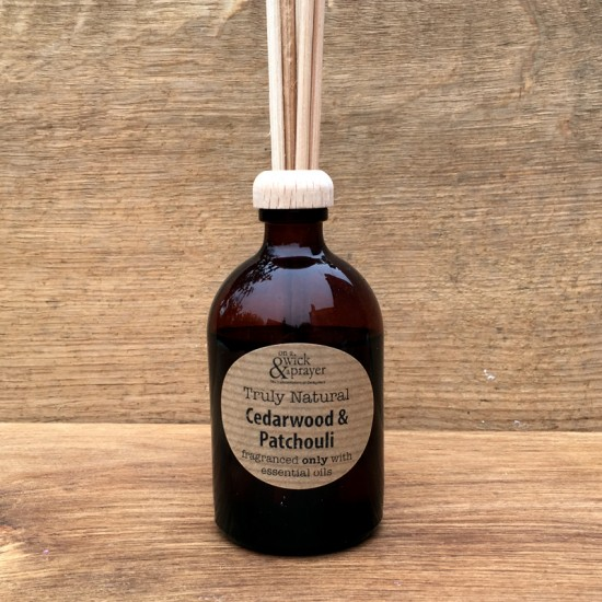 Truly Natural Reed Diffuser in Cedarwood & Patchouli