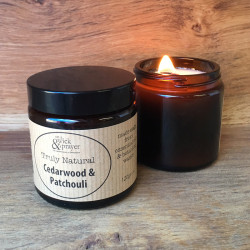 Truly Natural Candle in Cedarwood & Patchouli