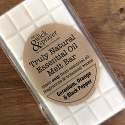 Truly Natural Melt Bar in Geranium, Orange & Black Pepper