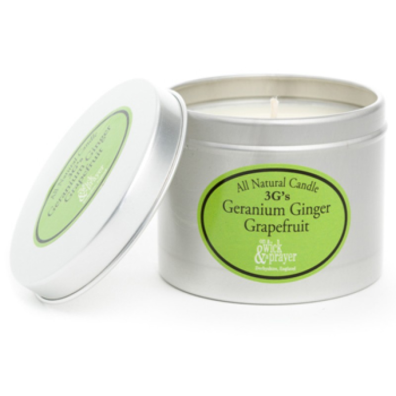 ALL NATURAL 3Gs Geranium Ginger Grapefruit CANDLE