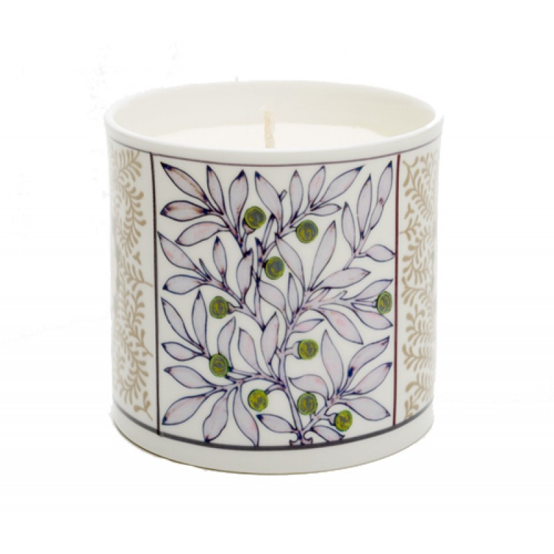 Mistletoe Blue Candle