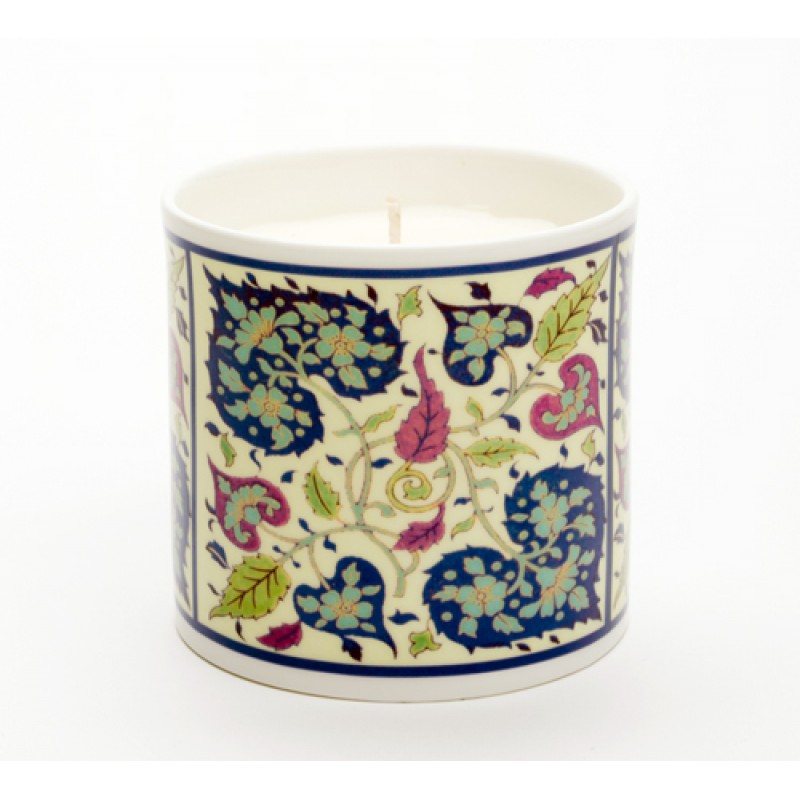 Persian Heart Blue Candle